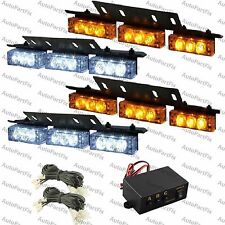 36 WHITE AMBER LED Emergency Warning Strobe Lights Bars Deck Dash Grill Yellow