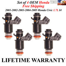 Genuine Honda 4x  Fuel Injectors for 01 02 03 04 05 Honda Civic 1.7L LX EX CX HX
