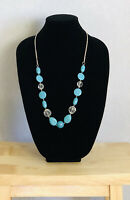 Vintage Necklace Faux Turquoise Plastic Beads Holiday Cruise Costume Jewellery