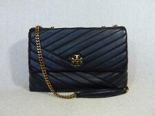 NWT Tory Burch Black Kira Chevron Convertible Shoulder Bag AUTHENTIC GUARANTEED