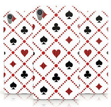 DYEFOR TILED PLAYING CARDS SUITS POKER PHONE CASE COVER FOR SONY XPERIA