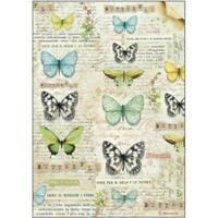 DFSA4178 Butterflies Stamperia Rice Paper A4 Decoupage Mixed media