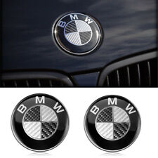 2 x BMW Emblem 82mm Haube Logo Vorne Hinten Motorhaube Kofferraum Für BMW Series