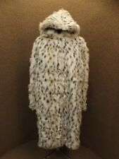 Absolutely Gorgeous Full Length Hooded Faux White Snow Leopard Fur Coat NEW 1X