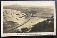 1941 Gibraltar Feldpost RPPC Postcard Airmail Cover To England Boats On The Bay