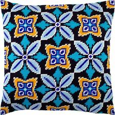 """Needlepoint/Tapestry Pillow Cover DIY Kit """"Morocco"""""""