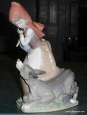 Little Red Riding Hood With Big Bad Wolf Lladro Figurine #4965 - RARE GIFT!