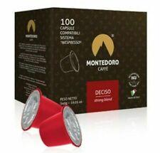 Montedoro Deciso.100 Coffee capsules compatible with Nespresso OriginalLine.
