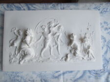 LARGE FRENCH COUNTRY  CHERUBS AND ANGLES VINTAGE STYLE  WALL PLAQUE /