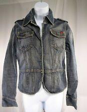 "Vtg Nautica Jeans Company Wms Blue Denim Jacket / ""Eye & Hook"" Size M /Pre-Owned"