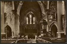 Hampshire. Portsmouth. Interior St.Thomas Church - Vintage Real Photo Postcard