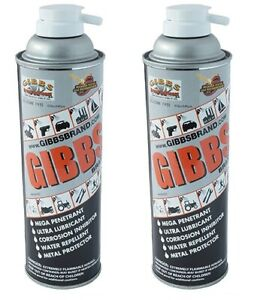 Gibbs Brand Lubricant, Penetrating Oil, Multi Purpose, Metal Protector (2 x12oz)