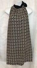 Prada Dress Sleeveless Black And Green Print Tie Neck  Halter Size S