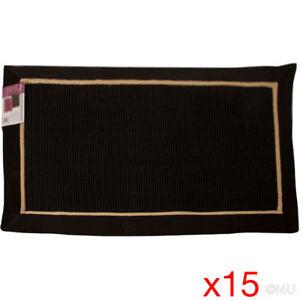 15 X SOLID COLOUR FLOOR MAT AREA RUG DOOR MAT BEDROOM BATHROOM ANTI-SKID