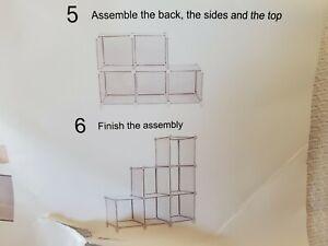 TomCare Cube Storage 6-Cube Bookshelf Closet Organizer Storage Shelves Shelf 4S4