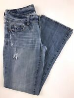American Eagle Slim Boot Low Rise Light Wash Women's Jeans Size 4 Short
