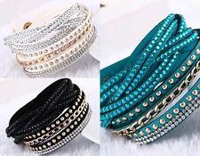 Unisex Modeschmuck-Armbänder mit Kristall