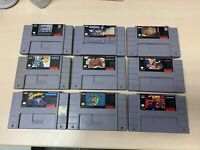 Lot of 9 SNES Super Nintendo Authentic Games TESTED & CLEANED!!!