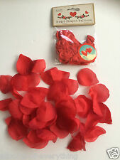 6 x red Heart Balloons & red Fabric Petals VALENTINES DAY
