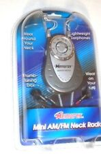 MEMOREX Mini AM/FM Neck or Belt Radio 870 Lightweight Earphones New