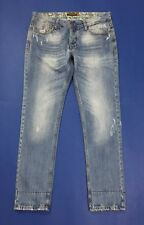Alcott jeans jimmy slim fit uomo usato W34 tg 48 denim destroyed boyfriend T3789