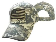 USA Tactical American Flag Patch Digital Camo Camouflage Cap Hat 610DC TOPW