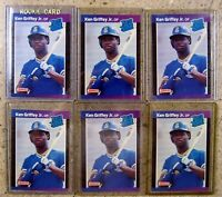 Ken Griffey Jr 1989 Donruss #33 Rookie RC 6ct Card Lot