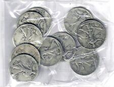 US $5.00 FACE Walking Liberty SILVER HALF DOLLARS -  Ten (10) COINS TOTAL