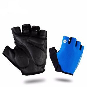 ROCKBROS Cycling Gloves Half Finger Bike Gloves Shockproof Breathable MTB Mounta
