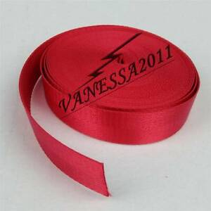 Red 10m Nylon Webbing Strap 1inch Width Camping Climbing Harnesses Belts 25mm