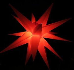 40cm Adventsstern rot Außenstern 3D außen Stern Weihnachtsstern wetterfest Neu