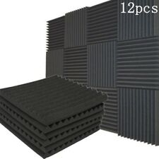 12X 30x30x2.5CM Studio Acoustic Foam Panel Tile Sound Absorption Proofing Wedge