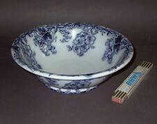 Um1880: Villeroy & Boch Althea Blau 37 cm große Schüssel V & B beidseitig dekor.