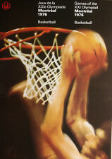 Montreal 1976 Olympic LARGE RARE BASKETBALL Poster Vintage Original Official