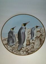 Waterbird Plate by Danbury Mint Emperor Penguin by Eric Tenney
