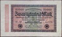 Germany Papiermark banknote - Weimar Republic - 20000 mark - year 1923