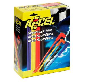 Accel 4039B Universal 8mm Blue Spark Plug Lead / Wire Set 90° Boots