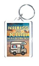 Motorhome Lovers Gift - Happiness Is A Journey Not A Destination Novelty Keyring