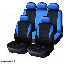 Pour Ford BMW Housses Couvre Sieges Jeu Complet Bleu - Noir