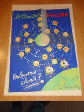 AFFICHE 1960 LE PLANETARIUM PHILIPS CONCOURS