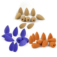 20pcs Natural Tower Bullet Backflow Incense Hollow Cones Home Office Fragrances