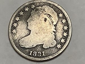 1831. Bust Dime 89% Silver 11% Copper   **Free Shipping **