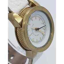 Diesel Women's Watch Dz-524d White Leather Gold Case 29mm