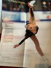Vintage 2002 Michelle Kwan Sports Illustrated For Kids Poster 15x21 Skating