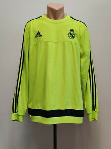 Football sweatshirt soccer FC Real Madrid Training 2015/2016 Adidas Jacket Top L
