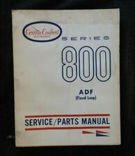 1965-66 CESSNA 800 ADF AUTOMATIC DIRECTION FINDER FIXED LOOP SERVICE PART MANUAL