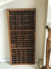 Vintage Printers Drawer Letterpress Print Type Set Tray Decorative wooden