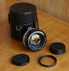 Nikon Nikkor 50mm f/1.2 Ai converted lens w/ Filter & Case & Caps