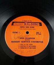 Don Pearson Reciting Robert Service Favorites - Volume 2 (RL 5094)