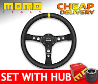 Momo MOD.07 Suede 07 Steering Wheel SET with BOSS KIT HUB to your car